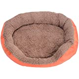 Calming Pet Bed, Candy Colors Pet Dog Cat Calming Bed Warm Soft Plush Round Nest Comfortable for Sleeping,Pet Bed, Dog Bed,Cat Bed, Material:Oxford Cloth&Faux Fleece