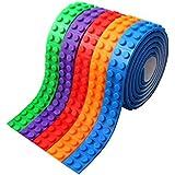 SOYAN ブロックテープ レゴブロック用テープ 貼り直すでき 知育玩具(5本)