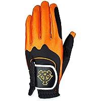 LEZAX(レザックス) ゴルフグローブ 読売ジャイアンツ ワンサイズ ゴルフグローブ YGGL-7653 ブラック×オレンジ