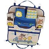 MagiDeal Car Back Seat Organiser/Seat Storage Bag - Colourful/for Kids/Children - Blue, 52 x 41.5cm
