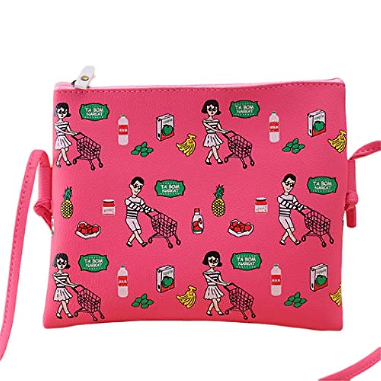Underleaf 漫画プリント女性の落書きハンドバッグミニクロスボディショルダーバッグレディースカジュアルな財布クラッチス女の子のハンドバッグ