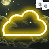 Cloud Neon Light Signs Wall Decor - LED Night Lights Warm White Room Decor,Battery and USB Operated Bedside Lamps Home Decora