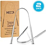 Tongue Scraper - Stainless Steel Tongue Cleaner Brush for Help Getting Rid of Bad Breath and Bacteria | Food Scraper to Keep Your Mouth & Teeth Healthy and Clean - Essential Dental Hygiene Kit