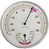 ドリテック アナログ 温湿度計 ホワイト O-310WT