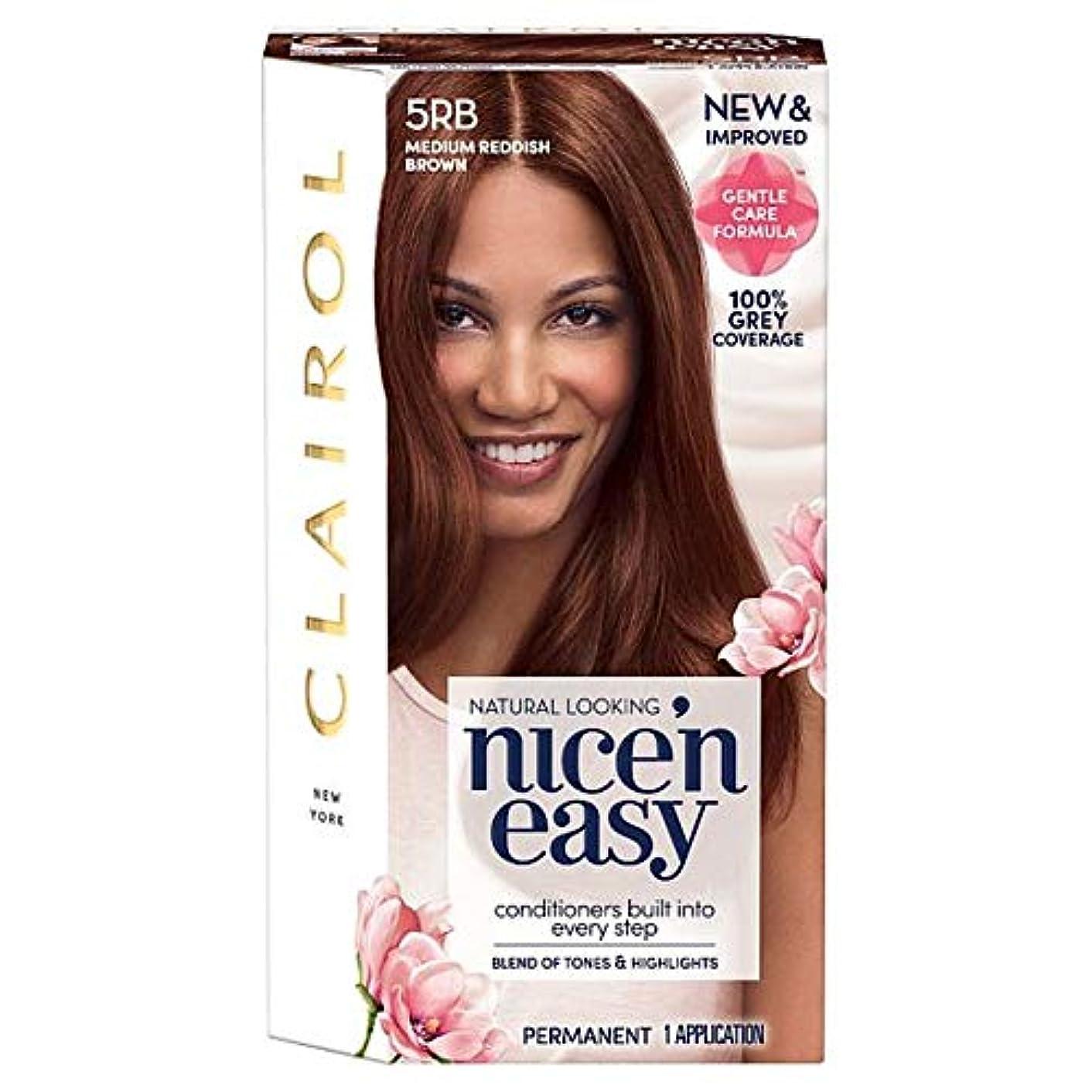 暴力煙スリップ[Nice'n Easy] クレイロール素敵な「N簡単にメディア赤褐色5Rbの染毛剤 - Clairol Nice 'N Easy Medium Reddish Brown 5Rb Hair Dye [並行輸入品]