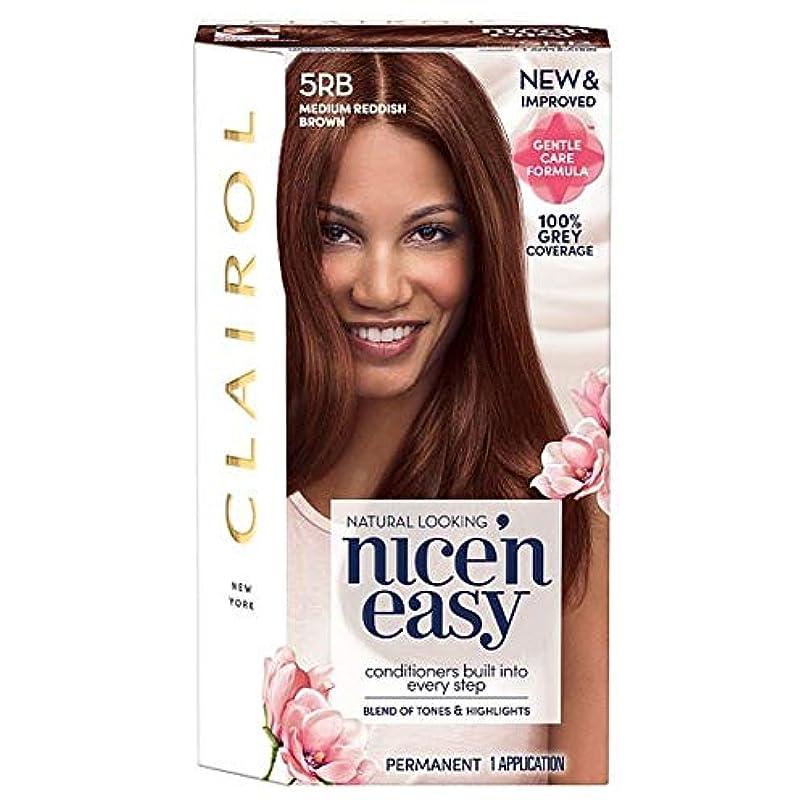 広々とした手荷物刈り取る[Nice'n Easy] クレイロール素敵な「N簡単にメディア赤褐色5Rbの染毛剤 - Clairol Nice 'N Easy Medium Reddish Brown 5Rb Hair Dye [並行輸入品]