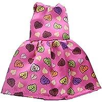 Dovewill 綿布製 ファッション ドレス ワンピース スーツ 14インチ人形ドール用 カラフル 全7色選択 - カラー#6