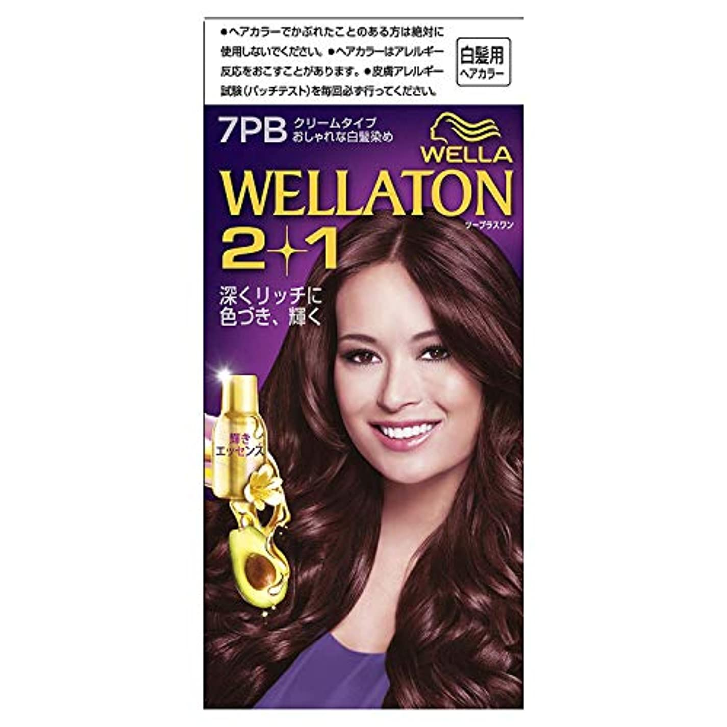 効能確立します測定可能ウエラトーン2+1 白髪染め クリームタイプ 7PB [医薬部外品] ×6個