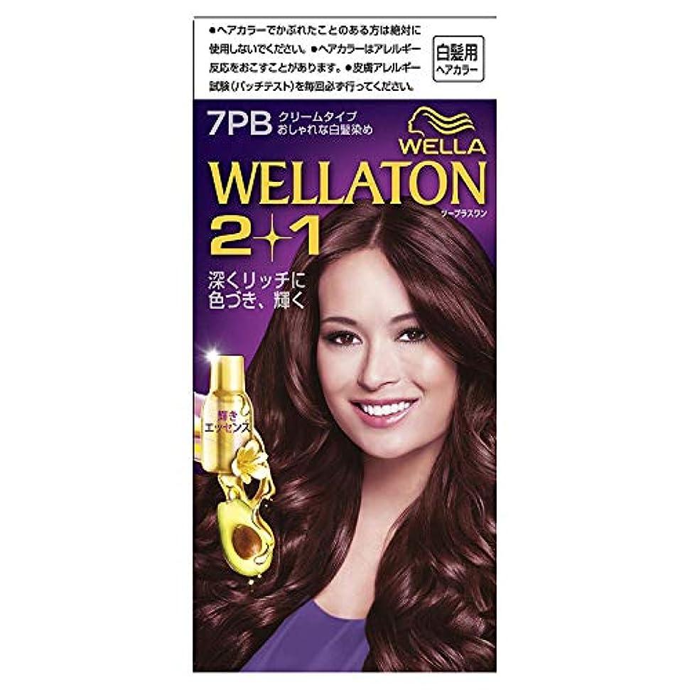 周術期フラッシュのように素早くウエラトーン2+1 白髪染め クリームタイプ 7PB [医薬部外品] ×6個