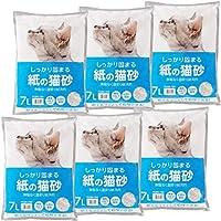 【Amazon.co.jp限定】 Smart Basic 紙の猫砂 7L×6袋(ケース販売)
