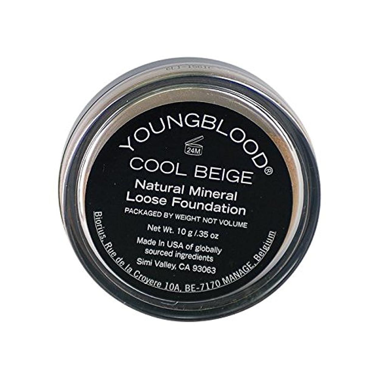 ホステス若い交じるヤングブラッド ミネラル パウダー ファンデーション 10g Cool Beige