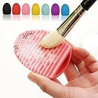 Smato 化粧ブラシクリーナー シリコン洗濯板 Brushegg メイクツール 清掃道具 洗浄ブラシ 清掃ブラシ (パープル)