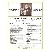 [冊子][楽譜]GITARREN ARCHIV Andres Segovia No.178 Estudios アンドレス・セゴビア