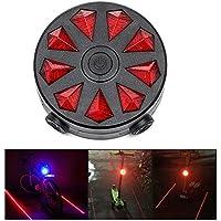 自転車用 テールライト レーザーシグライト Bicycle Smart Rear Light Bike Signal Tail Lamp Laser Beam