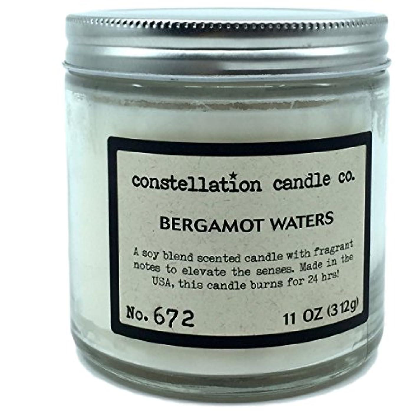 工業化するレンダーバウンスConstellation Candle Co。ベルガモットWaters Scented Candle