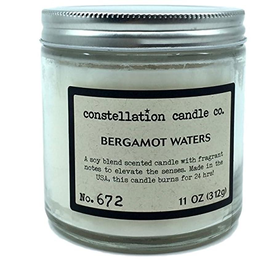 失礼矢岸Constellation Candle Co。ベルガモットWaters Scented Candle