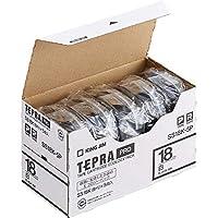 キングジム テープカートリッジ テプラPRO 18mm 5個 SS18K-5P 白