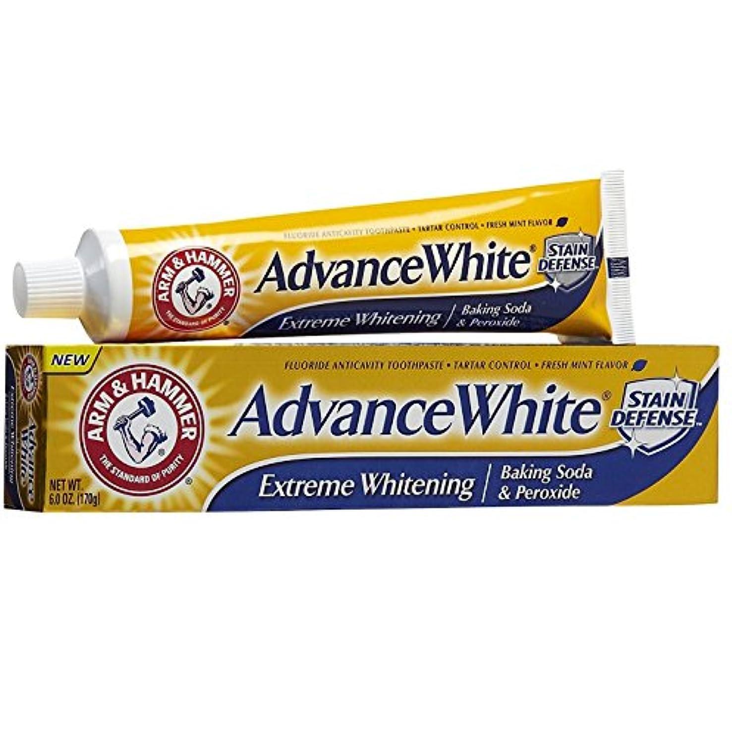 定数テーブルを設定する主流【6本セット】【海外直送品】ARM&HAMMER Advance White Baking Soda & Peroxide 6oz(170g)x6本
