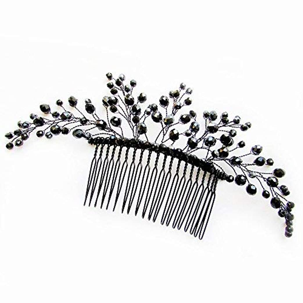 鉱夫上実用的Missgrace Black Hair Comb Halloween Special Occasion Headpiece Black Hair Accessories [並行輸入品]