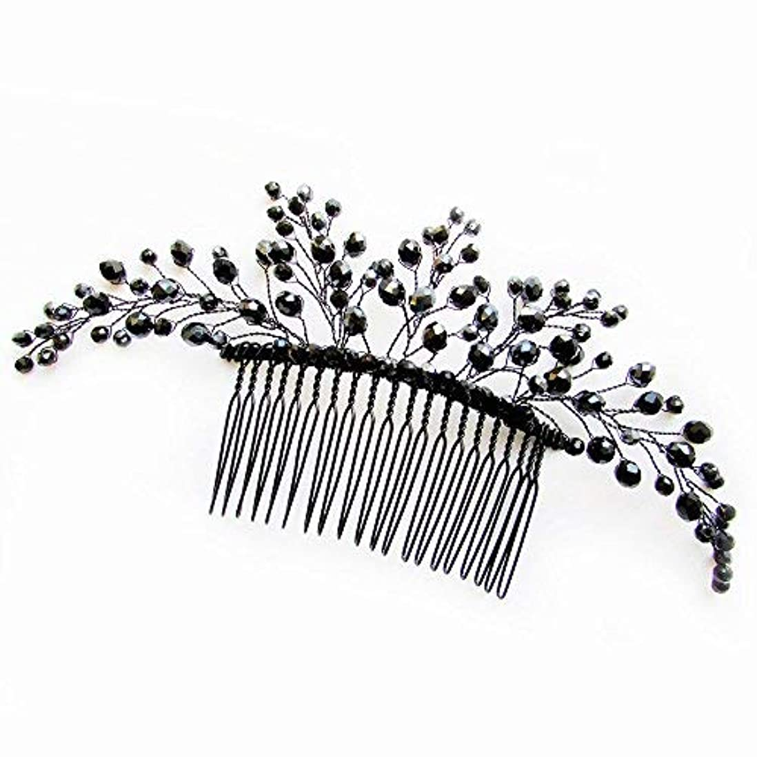 彼女自身ドライブ小道具Missgrace Black Hair Comb Halloween Special Occasion Headpiece Black Hair Accessories [並行輸入品]