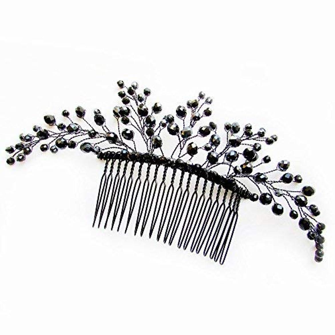 微妙オープナー製作Missgrace Black Hair Comb Halloween Special Occasion Headpiece Black Hair Accessories [並行輸入品]