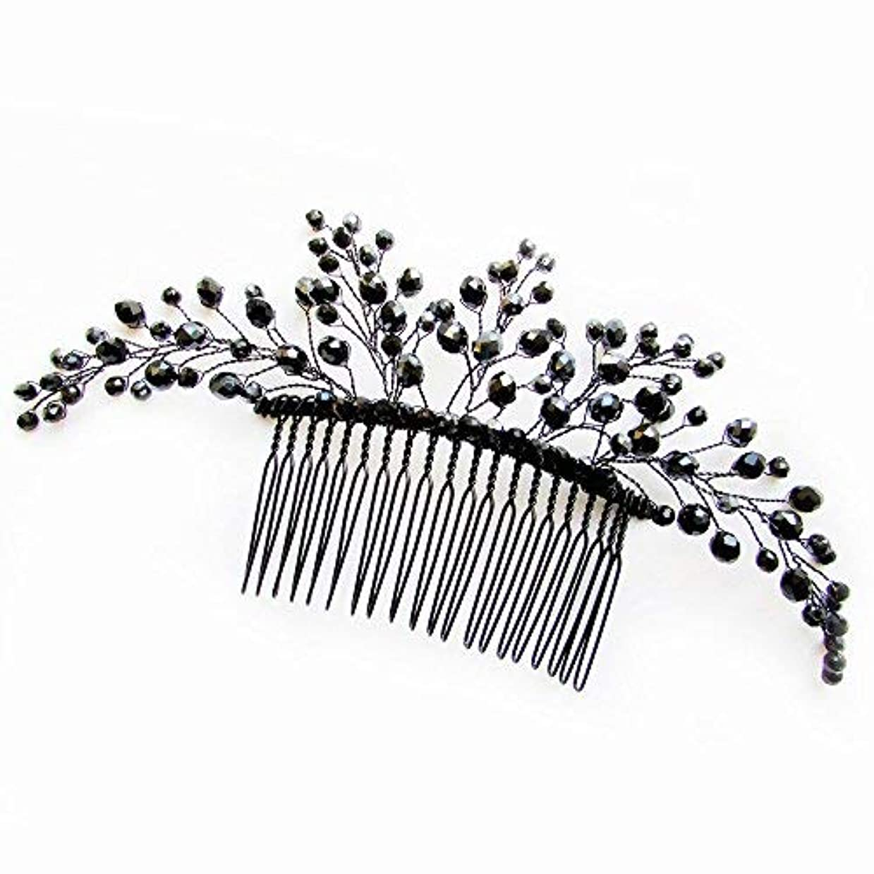 にはまって虎島Missgrace Black Hair Comb Halloween Special Occasion Headpiece Black Hair Accessories [並行輸入品]