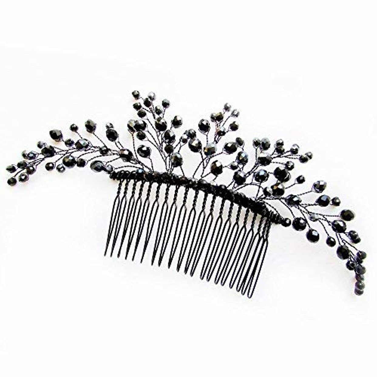 棚エレベーター休日Missgrace Black Hair Comb Halloween Special Occasion Headpiece Black Hair Accessories [並行輸入品]