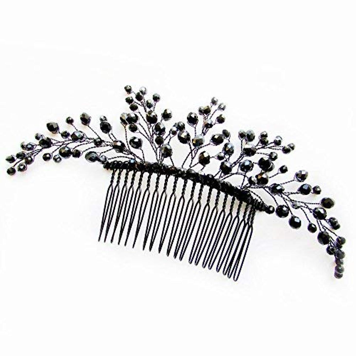 表示五ミスMissgrace Black Hair Comb Halloween Special Occasion Headpiece Black Hair Accessories [並行輸入品]