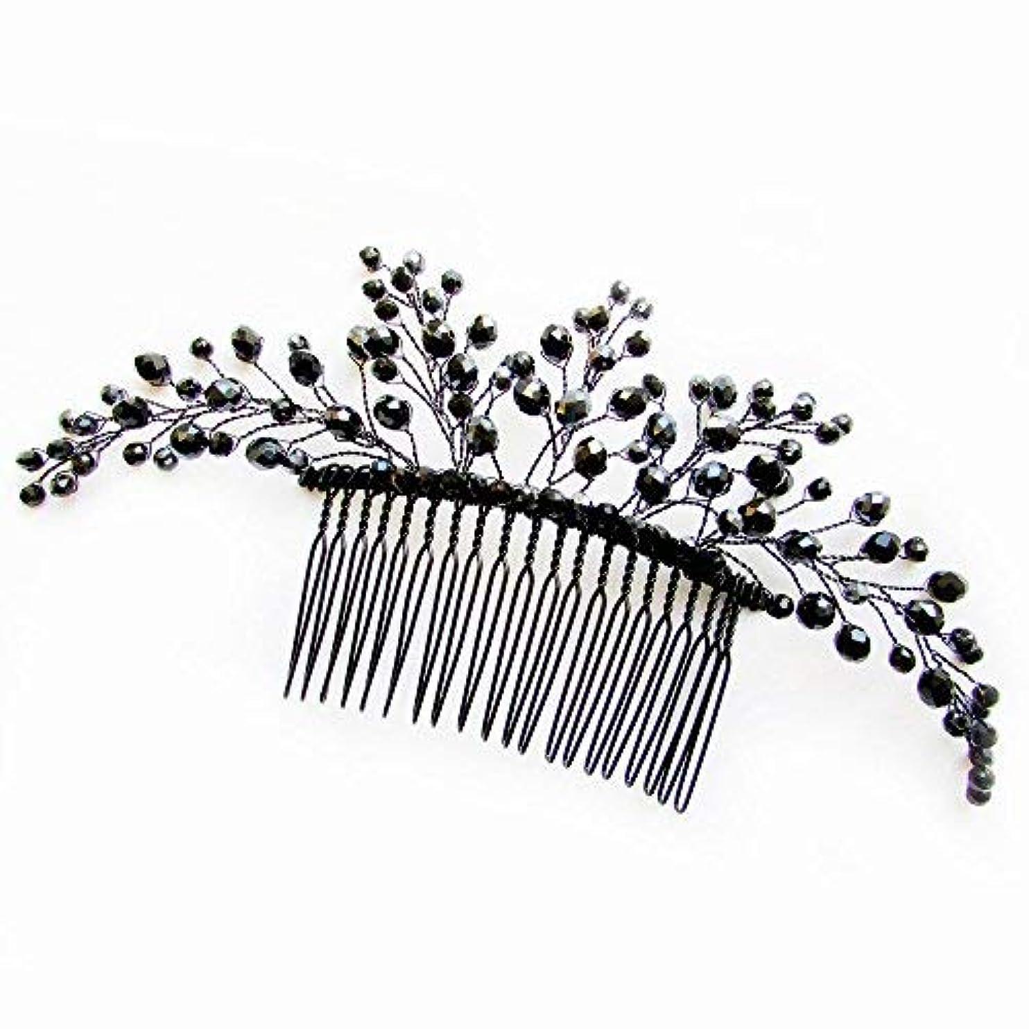 食用ボトルネック病気Missgrace Black Hair Comb Halloween Special Occasion Headpiece Black Hair Accessories [並行輸入品]
