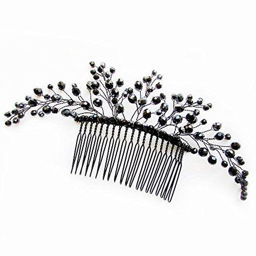 百万モデレータ成長Missgrace Black Hair Comb Halloween Special Occasion Headpiece Black Hair Accessories [並行輸入品]