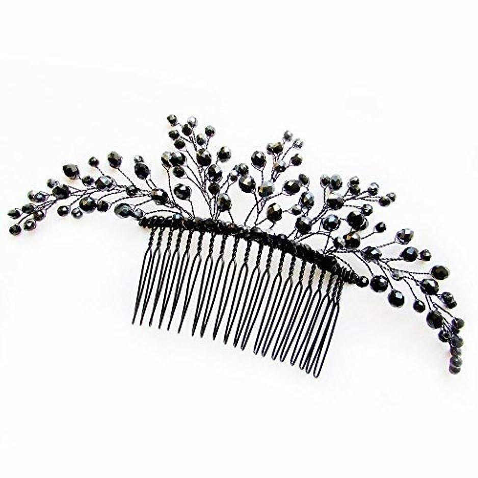 Missgrace Black Hair Comb Halloween Special Occasion Headpiece Black Hair Accessories [並行輸入品]