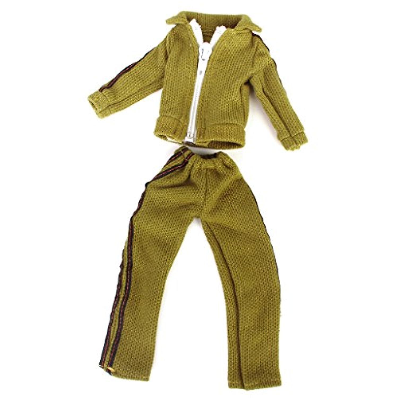 【ノーブランド品】ドール 人形 服 カジュアルウエア コート パンツ 手作り アクセサリー