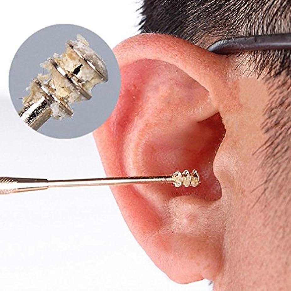 生物学ニコチンうれしいPINKING 耳かき 螺旋 ステンレス耳かき スクリュー 多機能 携帯用に便利 イヤー快適 耳穴マッサージ?耳垢掃除?耳ケア 家庭用?介護用?医療用などにも