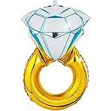 パーティーパーク ウェディングリング 指輪 バルーン 電報 祝電 結婚祝い ギフト 飾り付け パーティー 装飾 誕生日 結婚記念日 サイズ約80㎝×50㎝
