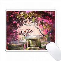 ファンタジーフィールの庭にピンクの屋外テーブル PC Mouse Pad パソコン マウスパッド