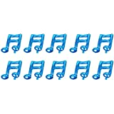 Perfk ダブル音符デザイン アルミニウム箔製 バルーン ウェディング コンサート プロム ステージ デコレーション 10個入り 全7色 - 青