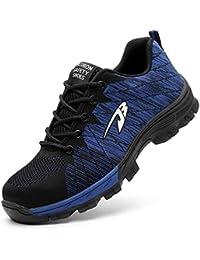 EVIICC 安全靴 作業靴 地下足袋 メンズ レディース 耐磨耗 衝撃吸収 つま先保護 スニーカー 登山靴 防滑 通気性 軽量 2018登場