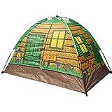 CAMPMORE キッズテント室内室外テント可愛い 4シーズンテント折り畳み式あそびと知育秘密基地 お誕生日出産祝いのプレゼント