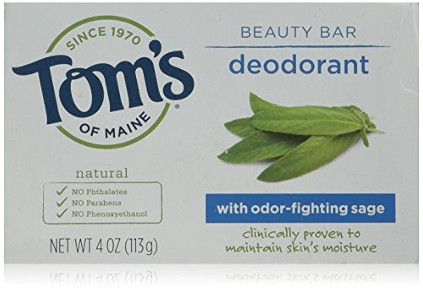 すり減る湿った生き残りTom's of Maine Natural Beauty Bar Deodorant Soap ナチュラル ビューティー バー デオドラント ソープ [4oz (113g)] [並行輸入品]
