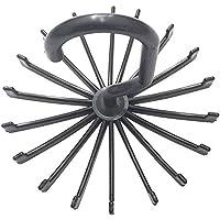 chuangli 360度回転調節可能な20ネックネクタイベルトネクタイラックホルダーフッククローゼットオーガナイザーの One Size ブラック CHUANGLI-Y-MP1231B