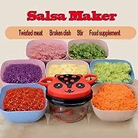 サルサメーカー、hand-poweredミラクルChopperベビーマルチVegetable Chopper Meat Grinder Fastサルサメーカー食品ミキサーBlender to Chop肉フルーツ野菜ハーブOnions Garlics。。。