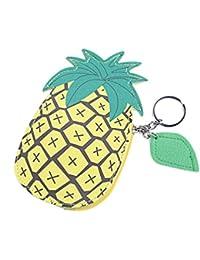 Hongma 小銭入れ コインケース 可愛い 果物型 デザイン リング付き PUレザー製 女の子 プレゼント 全5種類