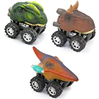 Party Favor Toy Car Pull Back恐竜Vehicle Set of 3