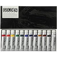 ターナー色彩 アクリル絵具 ゴールデンアクリリックス 12色セット GL02012C 20ml(6号)