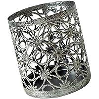 FLAMEER メイクアップブラシ ポット ペンストレージボックス レーススタイル 美しい 花瓶    - 銀