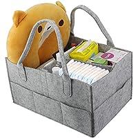 ZILONG おむつストッカー オムツ 収納ケース おしりふき赤ちゃん 収納ボックス 折りたたみ 収納箱 赤ちゃん ベビー用品 収納バック 出産祝い ギフト おもちゃ 雑物収納 小物整理 便利 グレー
