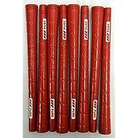 8 Pure p2ラップゴルフグリップ – 標準 – Red – Includes Bramptonグリップキット