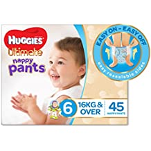Huggies Ultimate Nappy Pants, Boys, Size 6 Junior (16+kg), 45 Count