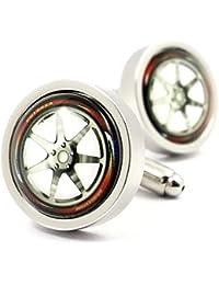 MFYS Jewelry ファッション アクセサリー スーパーカー 車 輪 ホイール カフス(カフスボタン?カフリンクス) ジュエリーBOX付
