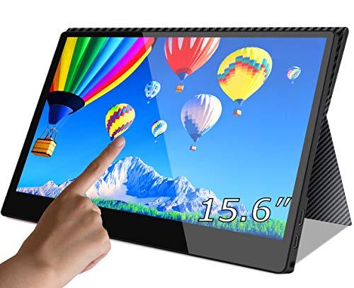 cocopar2019最新モバイルモニターニンテンドースイッチ用モニター 1080P USB Type-C / PS4 XBOXゲームモニタ/HDMIモバイルディスプレイ(厚さ4mm 保護ケース付) (15.6インチタッチ)
